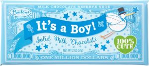 Blue It's a Boy Million Dollar Milk Chocolate Bar