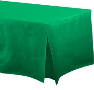 Festive Green Flannel-Backed Vinyl Fitted Table Cover