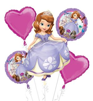 Sofia the First Balloon Bouquet 5pc - Giant