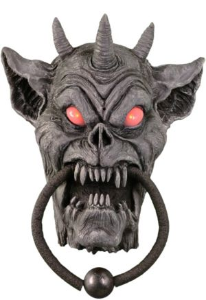 Animated Gargoyle Skull Door Knocker