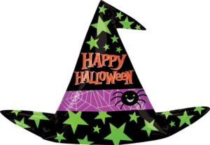 Happy Halloween Balloon - Giant Witch Hat
