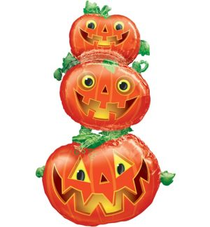 Stacked Jack-o'-Lantern Balloon - Giant