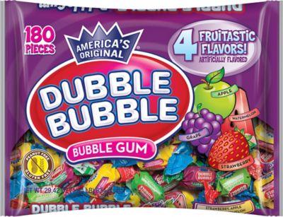 Assorted Fruit Double Bubble Gum 180ct Party City