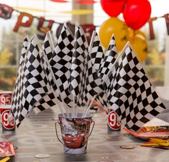 Cars Checkered Flag Centerpiece Kit