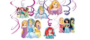 Disney Princess Swirl Decorations 12ct