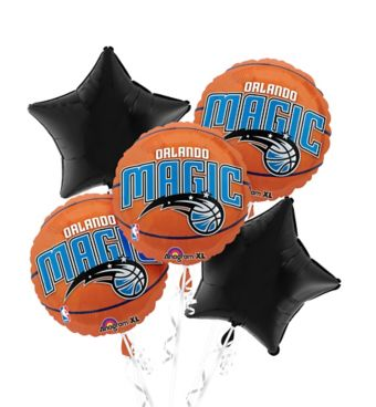 Orlando Magic Balloon Bouquet 5pc - Basketball