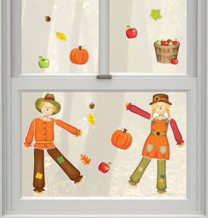 Scarecrow Cling Decals 24ct