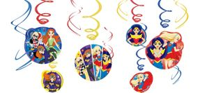 DC Super Hero Girls Swirl Decorations 12ct