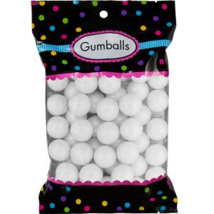 Pearl White Gumballs 48pc