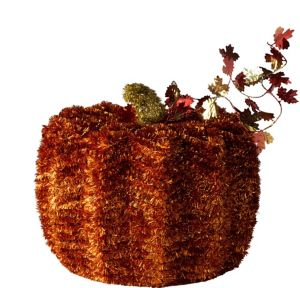 Large Tinsel Pumpkin