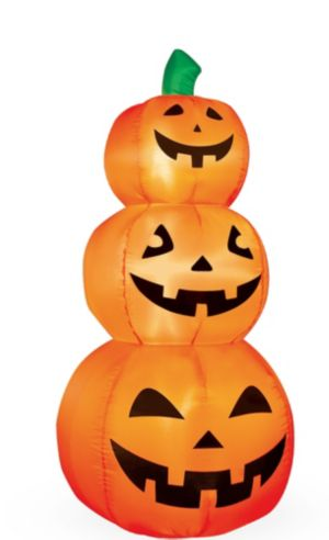 Light-Up Inflatable Jack-o'-Lantern Stack