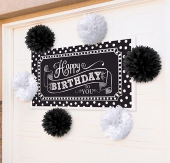Black & White Banner Decorating Kit