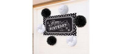 Black & White Banner Decoration Kit