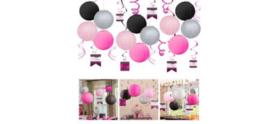 Black & Pink Ceiling Decoration Kit