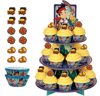 Deluxe Jake and the Never Land Pirates Cupcake Kit for 24