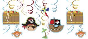 Little Pirate Swirl Decorations 12ct