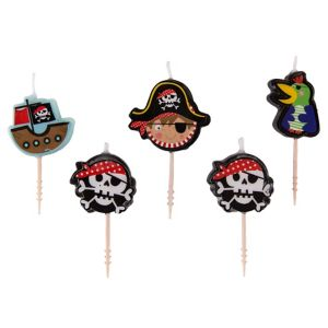 Little Pirate Birthday Toothpick Candles 5ct
