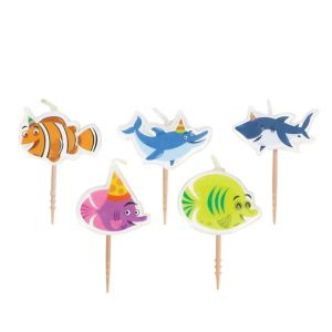 Under the Sea Birthday Toothpick Candles 5ct