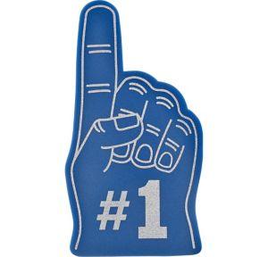 Blue #1 Foam Finger