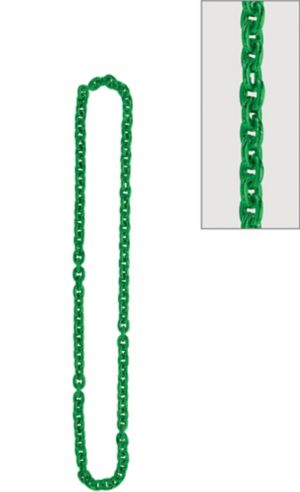 Green Chain Link Necklace