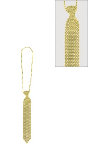 Gold Tie Bead Necklace