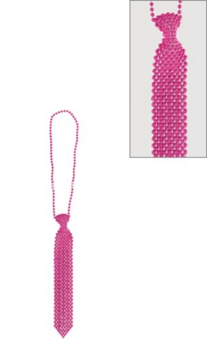 Pink Tie Bead Necklace
