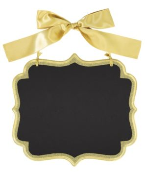 Glitter Gold Border Scroll Chalkboard Sign