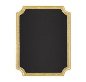 Glitter Gold Border Chalkboard Sign