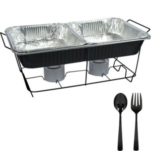 Black Chafing Dish Buffet Set 8pc