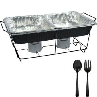Black Chafing Dish Buffet Set 8pc