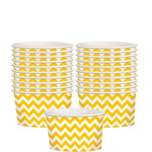 Sunshine Yellow Chevron Paper Treat Cups 20ct