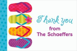 Custom Bright Flip Flop Thank You Note