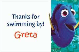 Custom Finding Dory Thank You Note