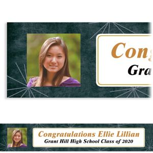 Custom Fireworks Script Graduation Photo Banner