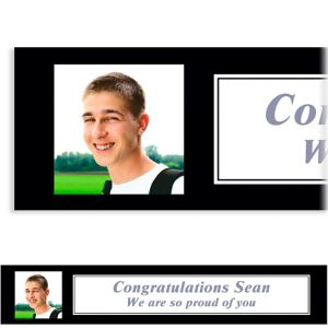 Custom Classic White Graduation Photo Banner