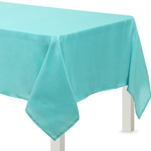 Robin's Egg Blue Fabric Tablecloth
