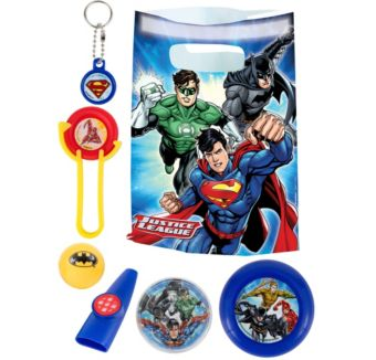 Justice League Basic Favor Kit for 8 Guests