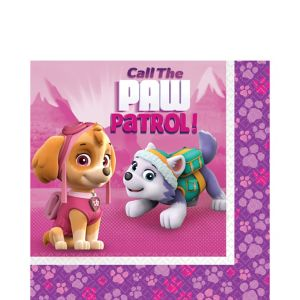Pink PAW Patrol Lunch Napkins 16ct