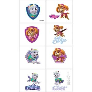 Pink PAW Patrol Tattoos 1 Sheet