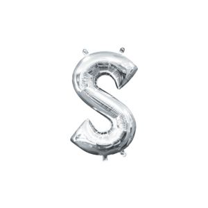 Air-Filled Silver Letter S Balloon