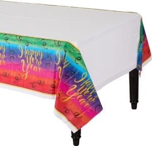 Colorful New Year's Table Cover