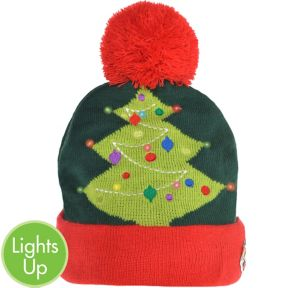 Light-Up Christmas Tree Beanie