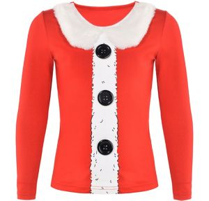 Girls Santa Long-Sleeve Shirt