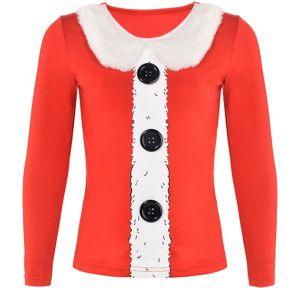 Girls Santa Long-Sleeve Shirt