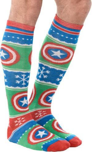 Captain America Christmas Knee Socks