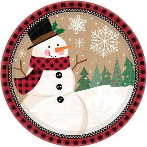 Winter Wonder Snowman Dinner Plates 8ct
