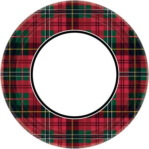 Holiday Plaid Lunch Plates 60ct