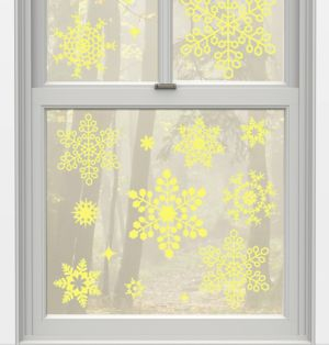 Glow-in-the-Dark Snowflake Decals 22ct