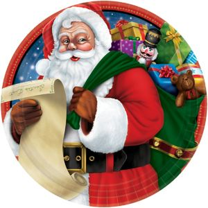 Classic Santa Lunch Plates 60ct
