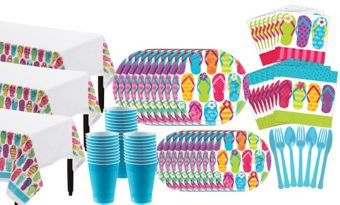 Bright Flip Flop Basic Party Kit for 60 Guests